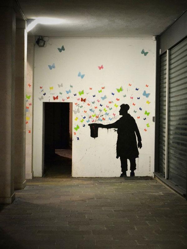 kenny random street art silhouette man (10)