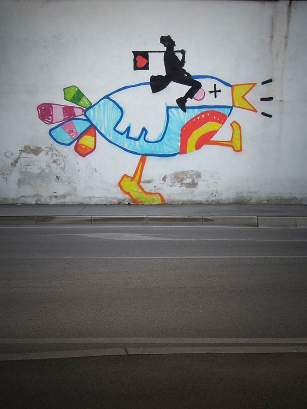 kenny random street art silhouette man (4)