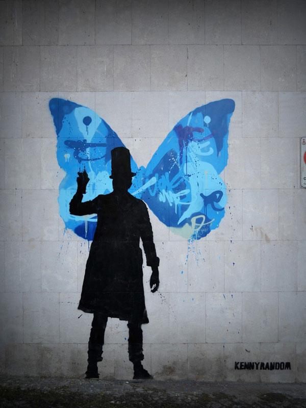 kenny random street art silhouette man (6)