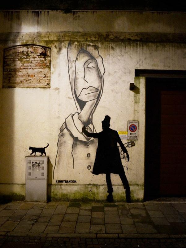 kenny random street art silhouette man (7)