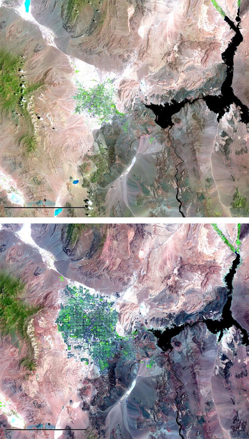 las vegas growth landsat 15 Surreal Satellite Images of Earth