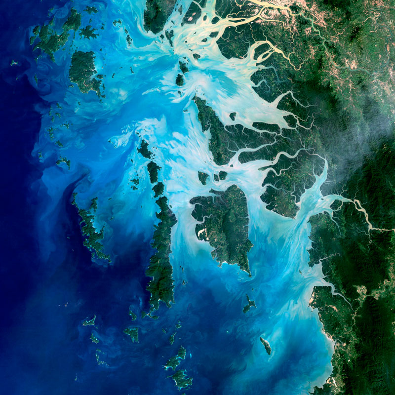 mergui archipelago myanmar landsat satellite image 15 Volcanic Eruptions Seen from Space