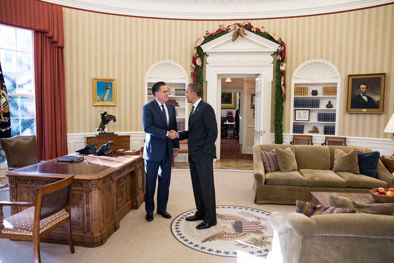 obama romney oval office