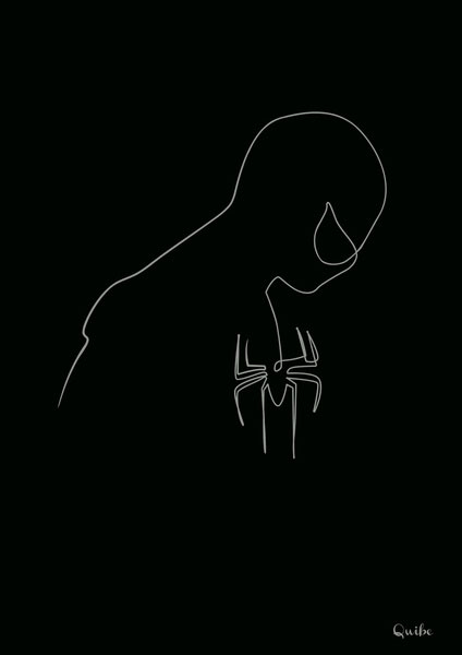 one line portrait by quibe Clever Animal Illustrations Using Negative Space