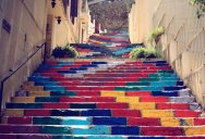 Picture of the Day: Rainbow-Coloured Stairs in Beirut