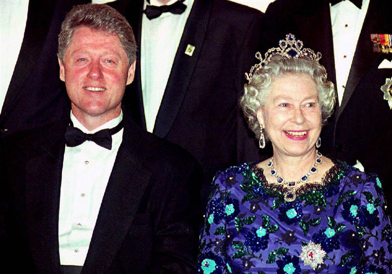 queen elizabeth bill clinton