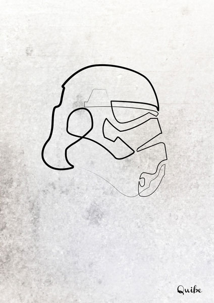 stormtrooper one line portrait by quibe What if Superheroes were Sponsored?