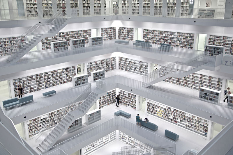 stuttgart city library interior Picture of the Day: Inside the Stuttgart City Library