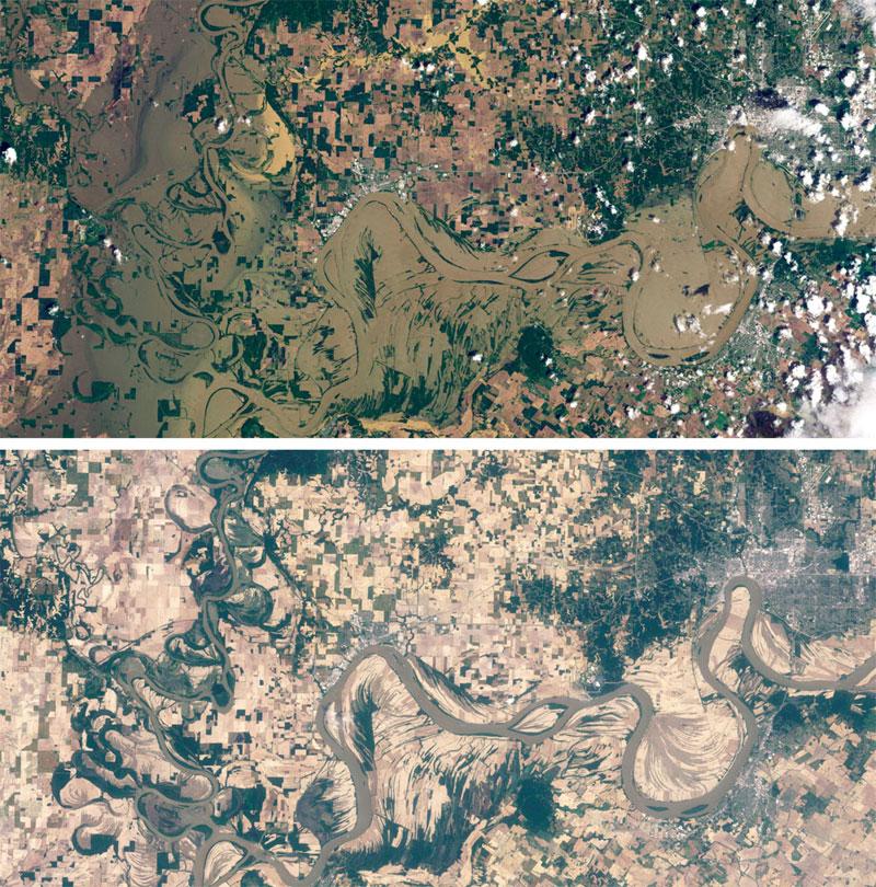 Wabash-and-Ohio-Rivers landsat satellite image
