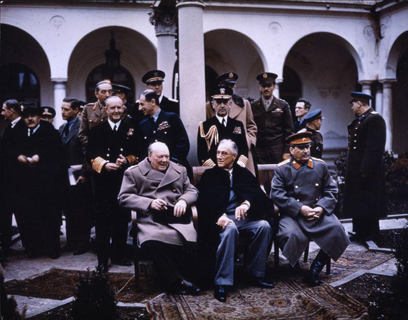 big three at yalta feb 1945 churchill roosevelt stalin 30 Photos to Celebrate Flickr Commons 5th Anniversary