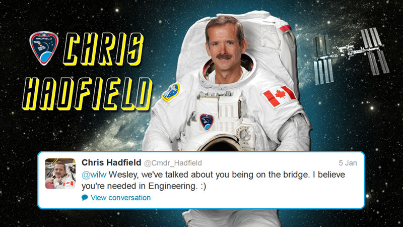 canadian astronaut chris hadfield tweets with star trek crew from space (10)