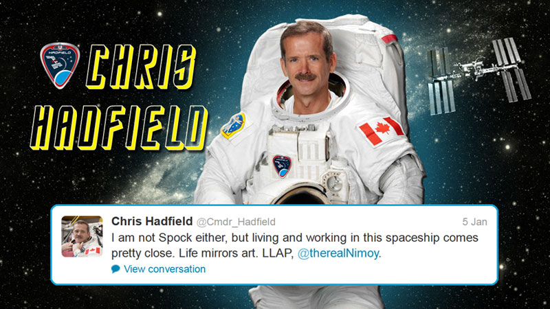 canadian astronaut chris hadfield tweets with star trek crew from space (13)