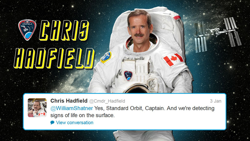 canadian astronaut chris hadfield tweets with star trek crew from space (2)