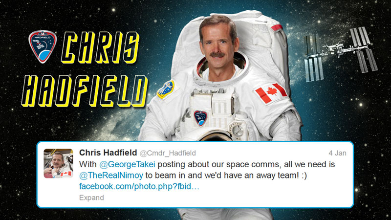 canadian astronaut chris hadfield tweets with star trek crew from space (6)