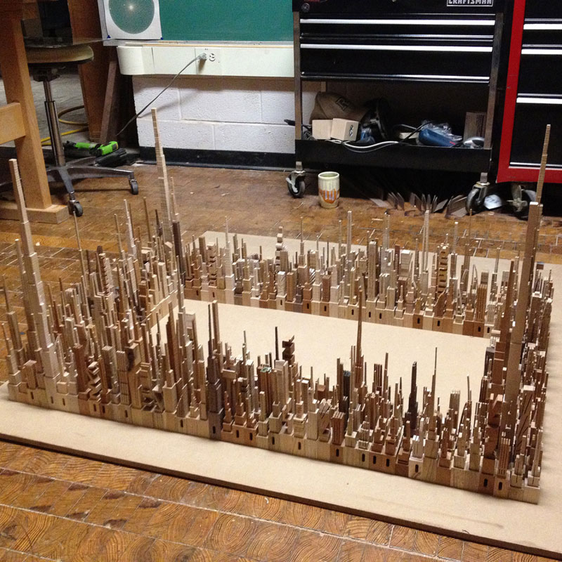 cityscape sculpture carved from wood james mcnabb (5)