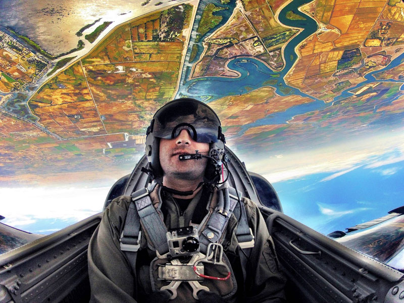 kash shaikh patriots jet team upside down in airplane hdr go pro Picture of the Day: Turn that Frown Upside Down