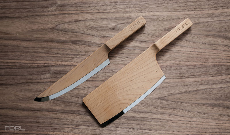 kitchen knives made from maple wood by the federal fdrl 3 Elegant Bathtubs Made Entirely of Wood