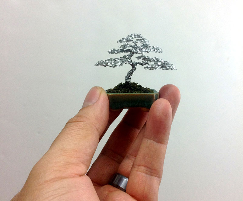 Miniature Bonsai Tree Wire Sculptures By Ken To Twistedsifter