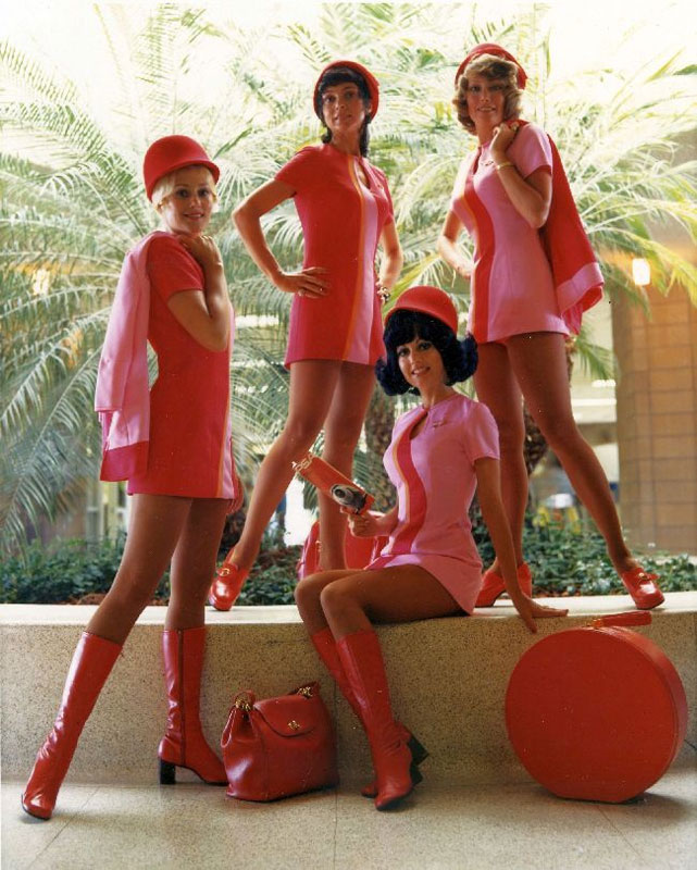 psa flight attendants all pink uniforms 30 Photos to Celebrate Flickr Commons 5th Anniversary