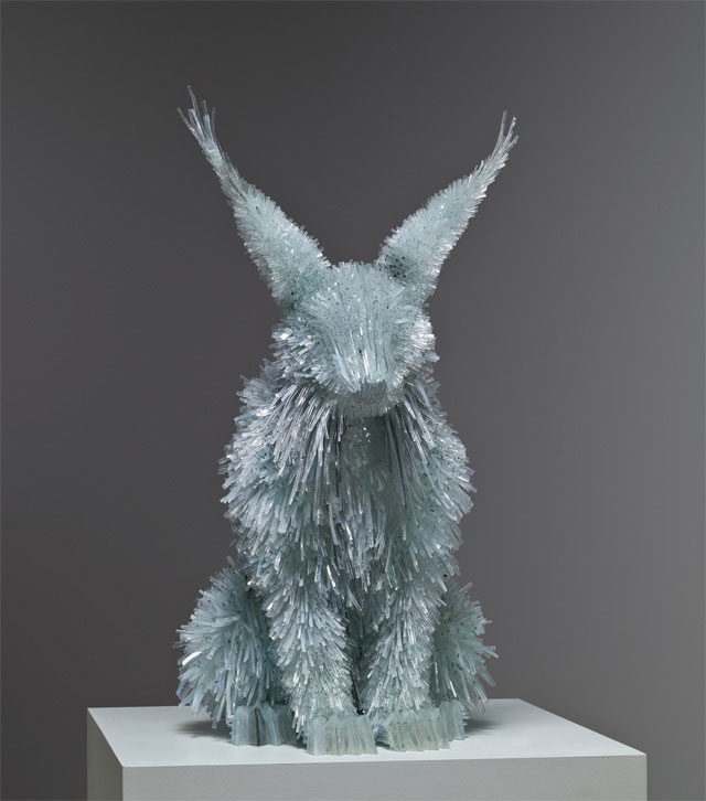 shattered glass animal sculpture marta klonowska 1 Shattered Glass Animal Sculptures by Marta Klonowska