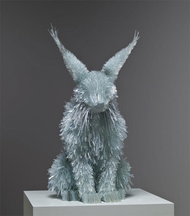 shattered glass animal sculpture marta klonowska 1 Shattered Glass Animal Sculptures by Marta Klonowska