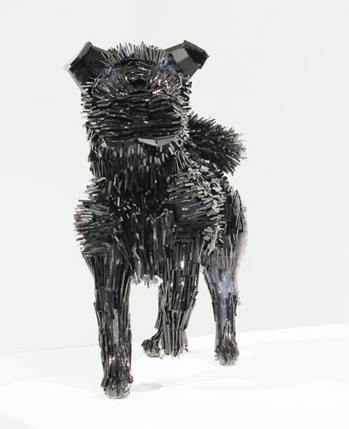 shattered glass animal sculpture marta klonowska La-Marquesa-de-Pontejos-after-Francisco-de-Goya-1