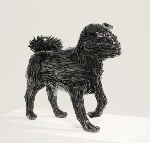 shattered glass animal sculpture marta klonowska La-Marquesa-de-Pontejos-after-Francisco-de-Goya-3