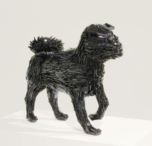 shattered glass animal sculpture marta klonowska La-Marquesa-de-Pontejos-after-Francisco-de-Goya-3