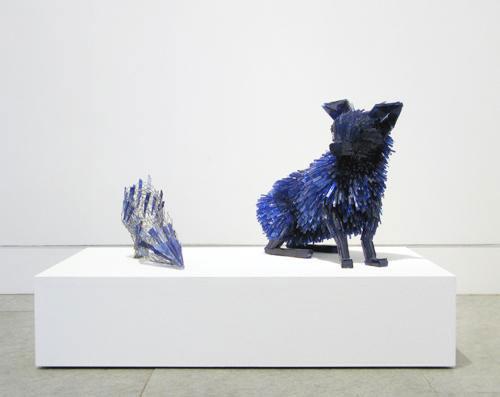 shattered glass animal sculpture marta klonowska Portrait-of-a-Young-Girl-after-Charles-d'Agar-1