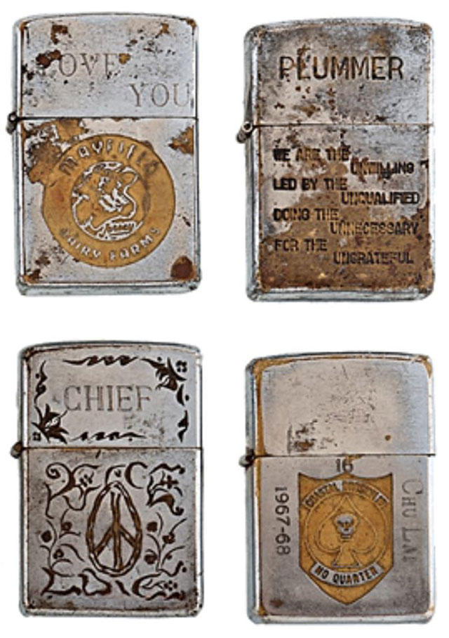 soldiers engraved zippo lighters from the vietnam war (2)