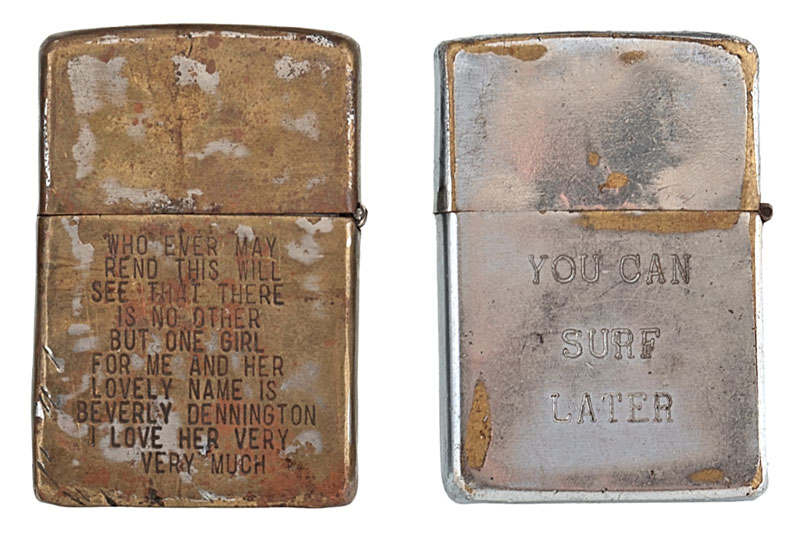 Soldiers Engraved Lighters from Vietnam