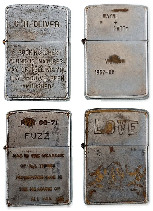 soldiers engraved zippo lighters from the vietnam war (5)