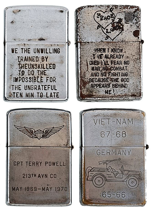 soldiers engraved zippo lighters from the vietnam war (9)
