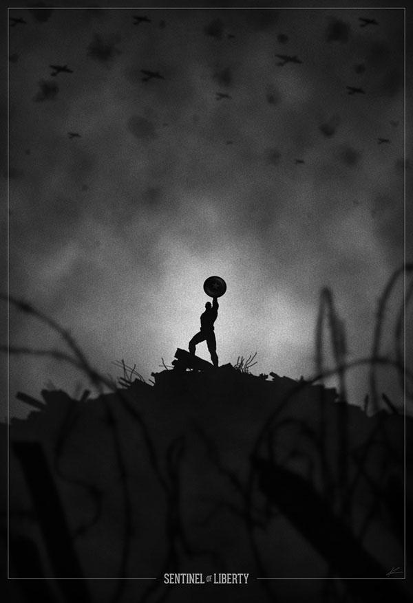 Superhero Noir Posters by Marko Manev (2)