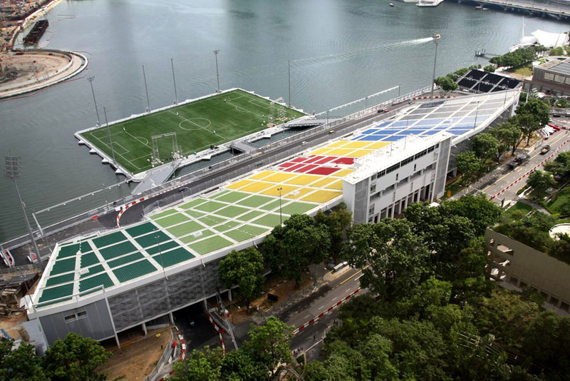 the float at marina bay singapore floating field stage worlds largest (5)