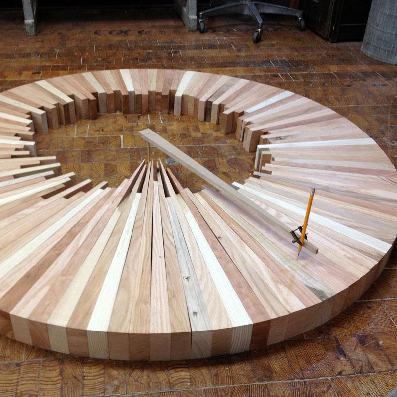 wooden cityscape wheel carving sculpture james mcnabb (3)