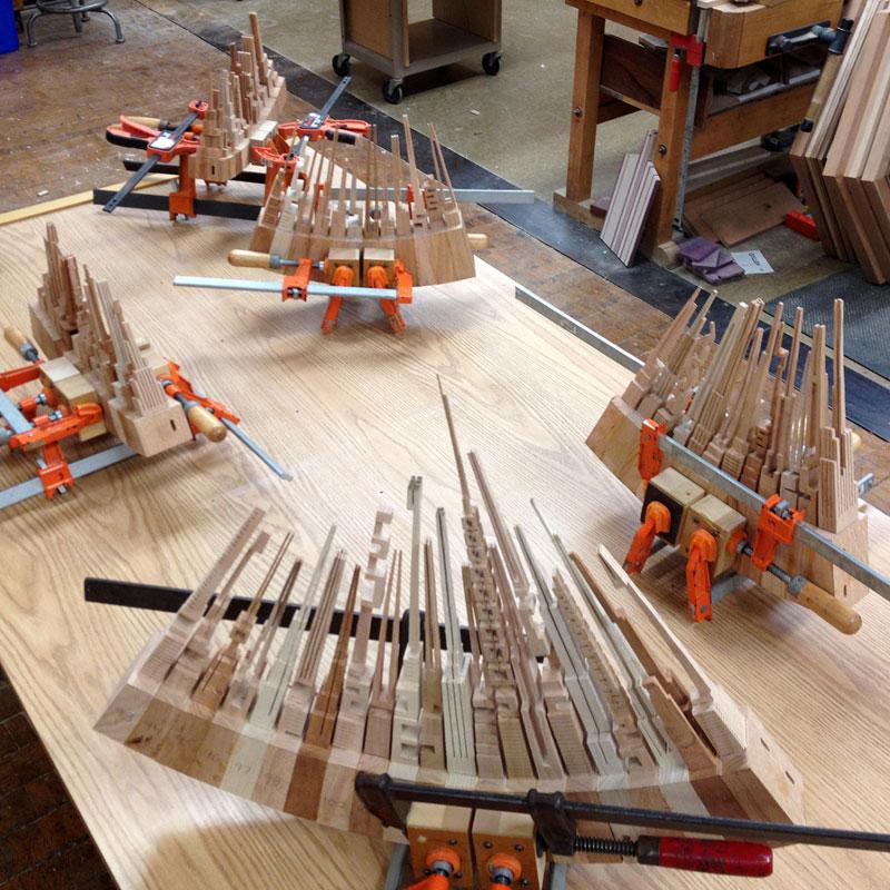 wooden cityscape wheel carving sculpture james mcnabb (5)