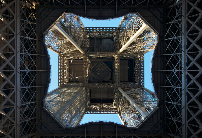 eiffel tower from below Picture of the Day: The Eiffel Tower from Below