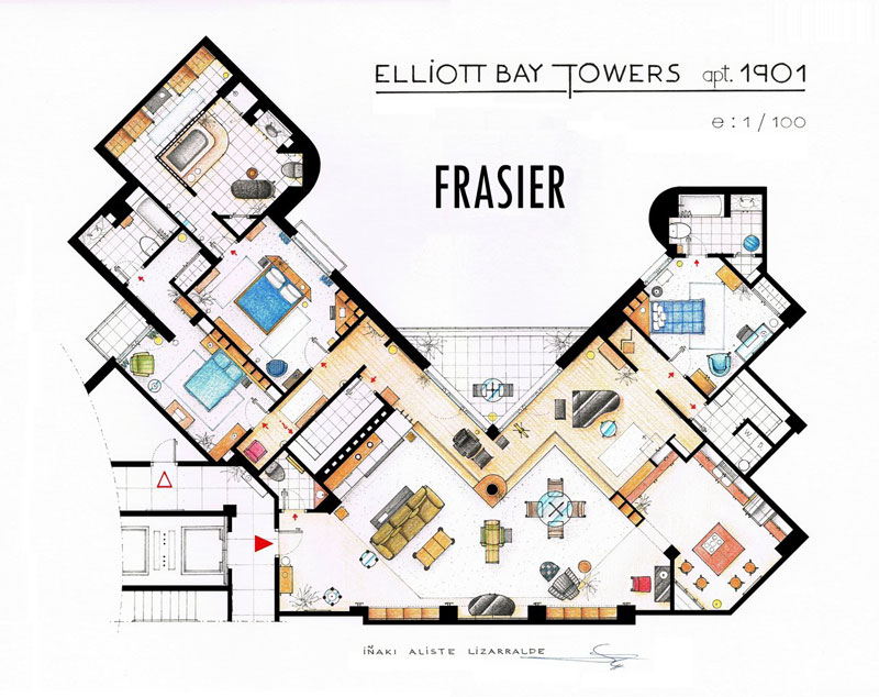 frasier_s_apartment_floor plan_by_Inaki Aliste Lizarralde-nikneuk