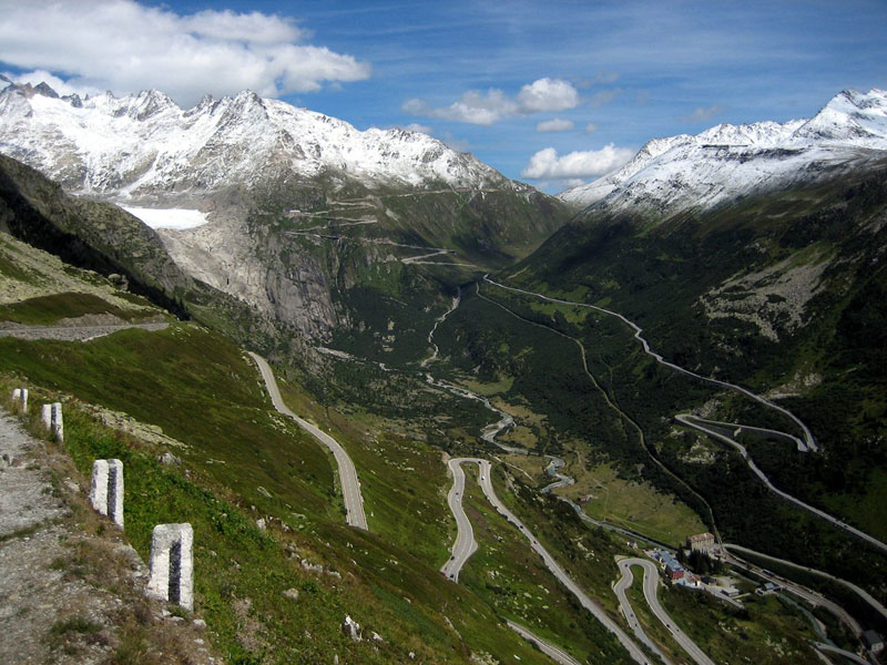furkapassroute in switzerland as seen from grimselpassroute This Amazing Bridge Turns Into a Tunnel and Connects Denmark and Sweden