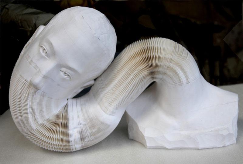 li hongbo paper sculptures malleable flexible (2)