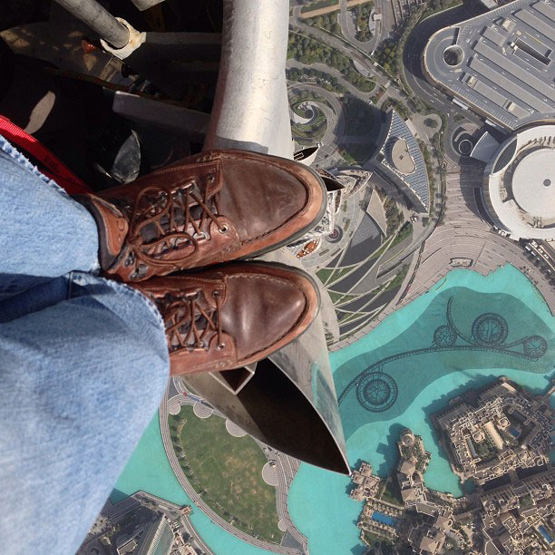 looking down from top of burj khalifa The Top 25 Pictures of the Day for 2013