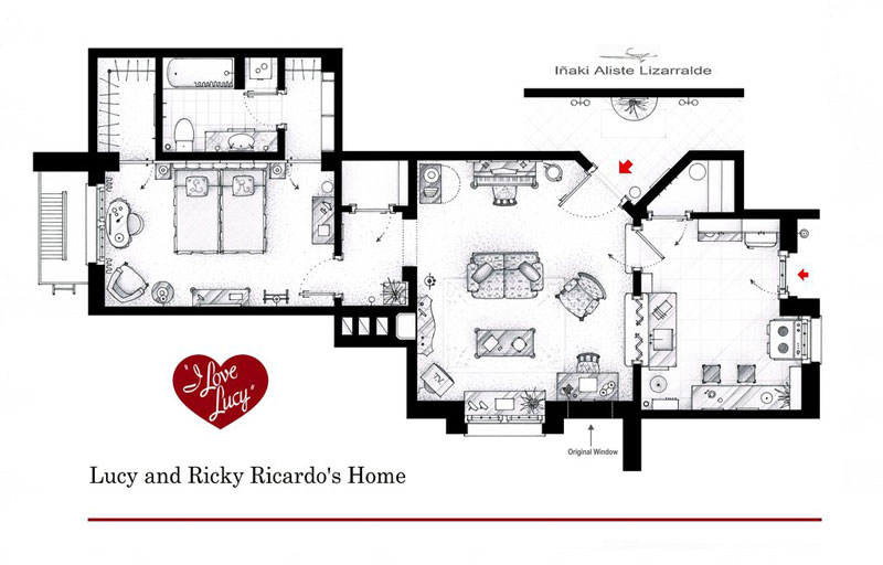 lucy_and_ricky_ricardo_floor plan_i_love_lucy_by_Inaki Aliste Lizarralde-nikneuk