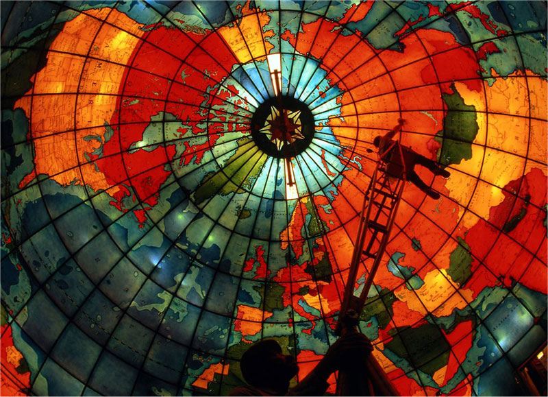 mapparium stained glass globe mary baker eddy library boston The Top 25 Pictures of the Day for 2013