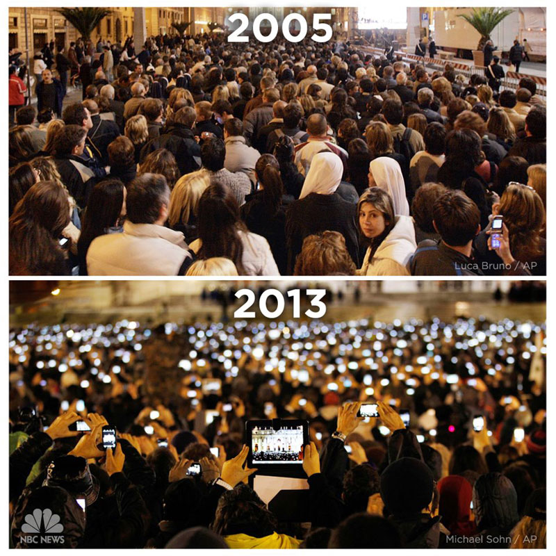 st peters square vatican cell phone 2005 vs 2013 The Shirk Report   Volume 205