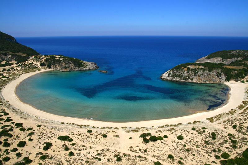 Voidokilia_Beach_Messinia_greece_shape-of-omega-symbol