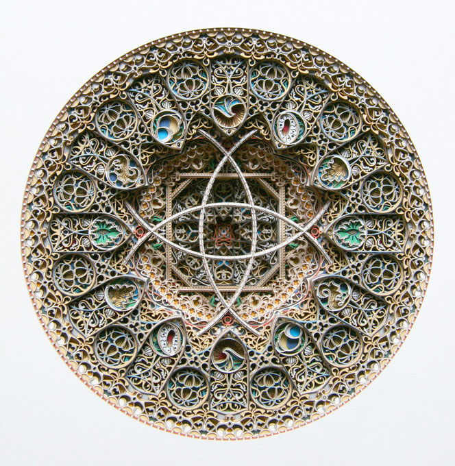 3d laser cut paper art eric standley layered complex intricate 3 15 Flower Mandalas by Kathy Klein