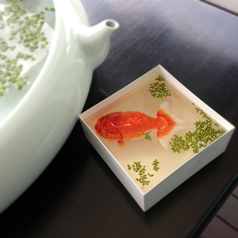 3D Portraits of Undersea Creatures Painted onto Layers of Resin keng lye (16)