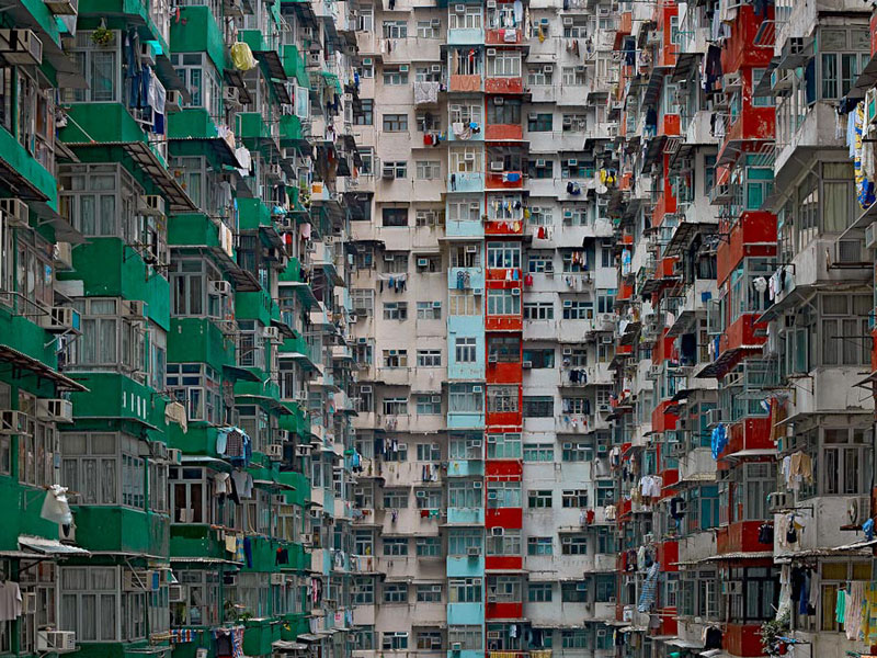 architectural density in hong kong michael wolf 8 This Guy Takes Photos of Buildings and then Uses the Sky as His Canvas