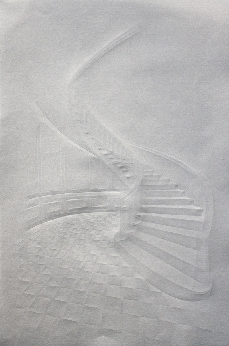 artwork made from a folded sheet of paper simon schubert (1)